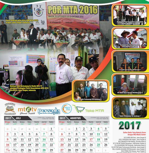 Kalender MTA Media Center 2017